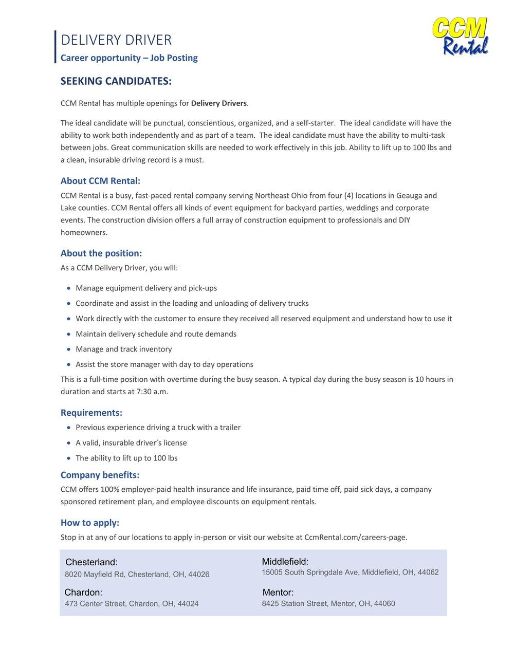 Job Posting- Delivery Driver - CCM-1.jpg