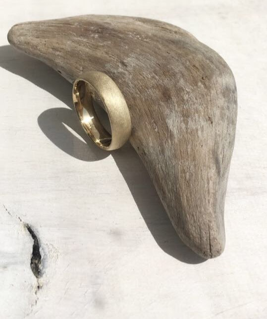 DRIFTWOOD - Slightly textured, matte, 14k yellow gold