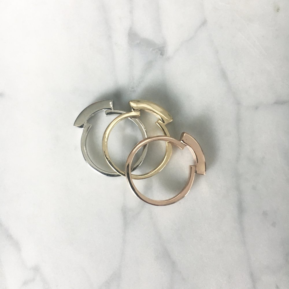 LORE Rings - Platinum, 14k yellow gold, 14k rose gold