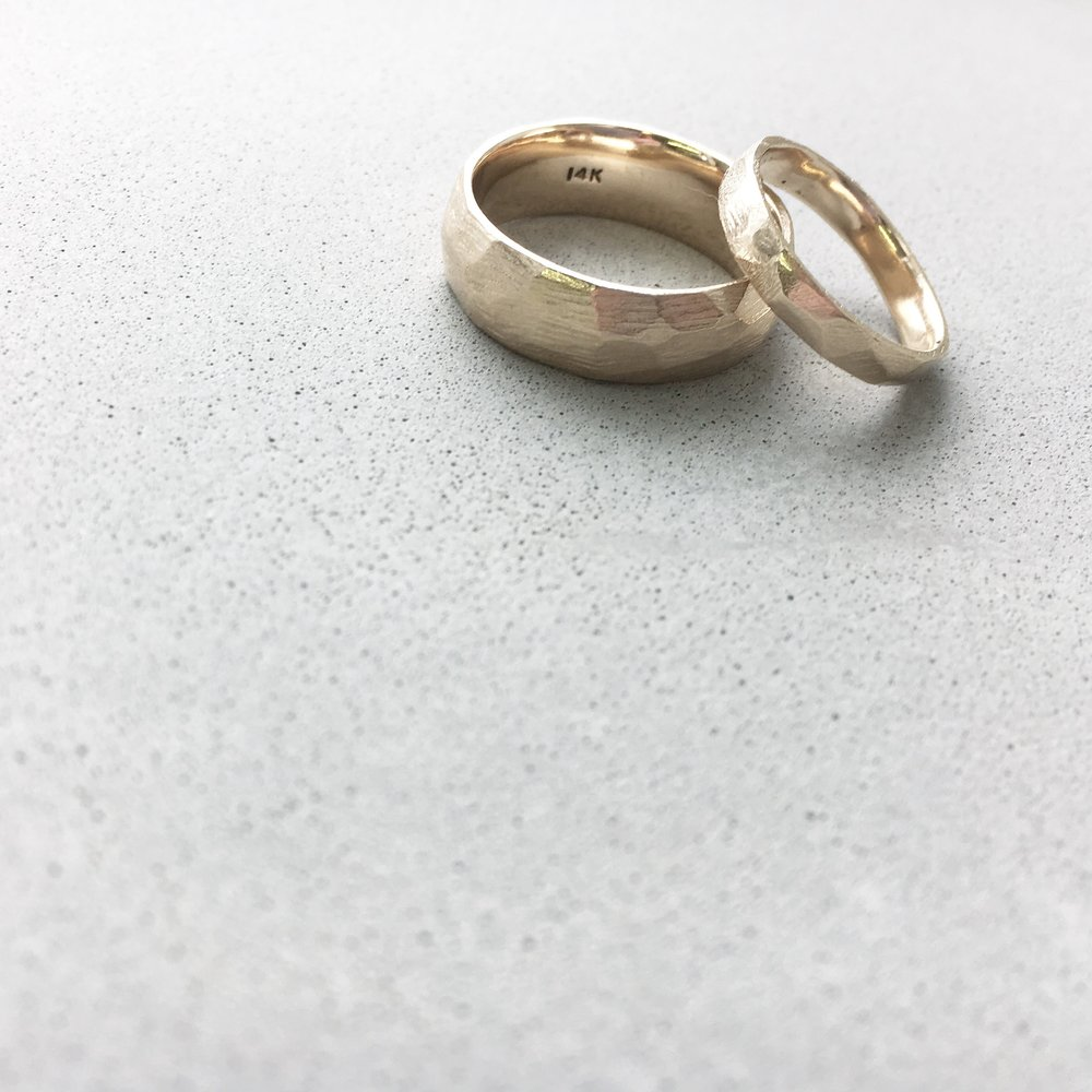LEIGH + TROY - Faceted and textured, 14k rose gold