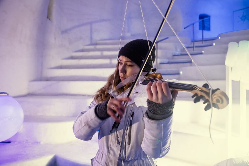 Award winning short, Ice Music. Tim Linhart makes playable instruments out of ice. He is the founder of Ice Music, based in Luleå, Swedish Lapland.
