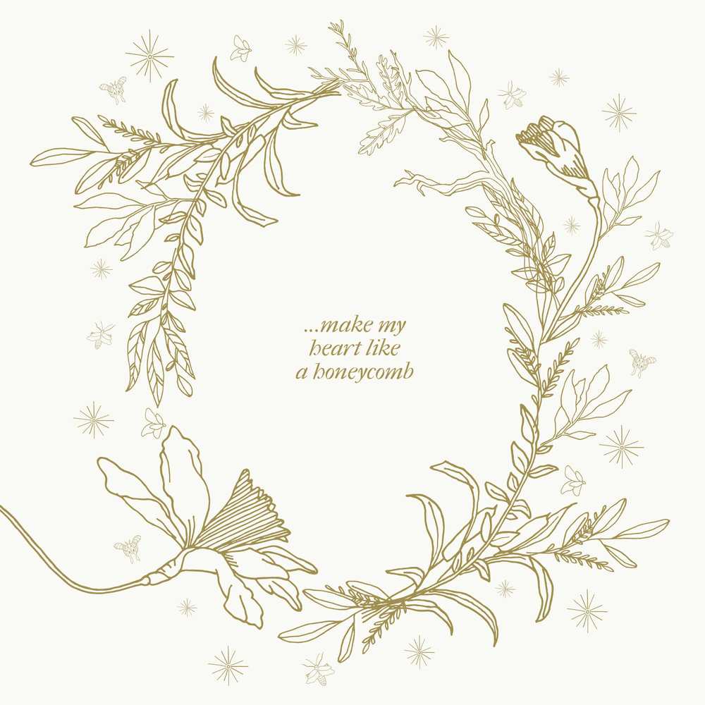 Custom illustrations for Christy Nockels' album:  Be Held: Lullabies for the Beloved .