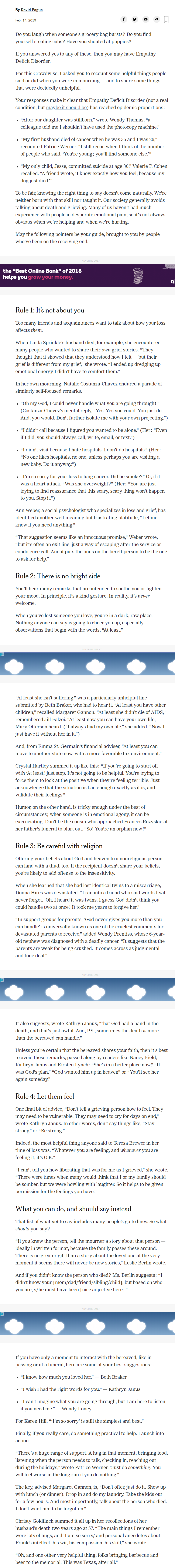 screenshot what to say to someone who's grieving NY Times.png