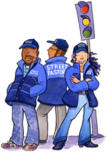 Street Pastors   Street pastors are trained volunteers from local churches who care about their community.