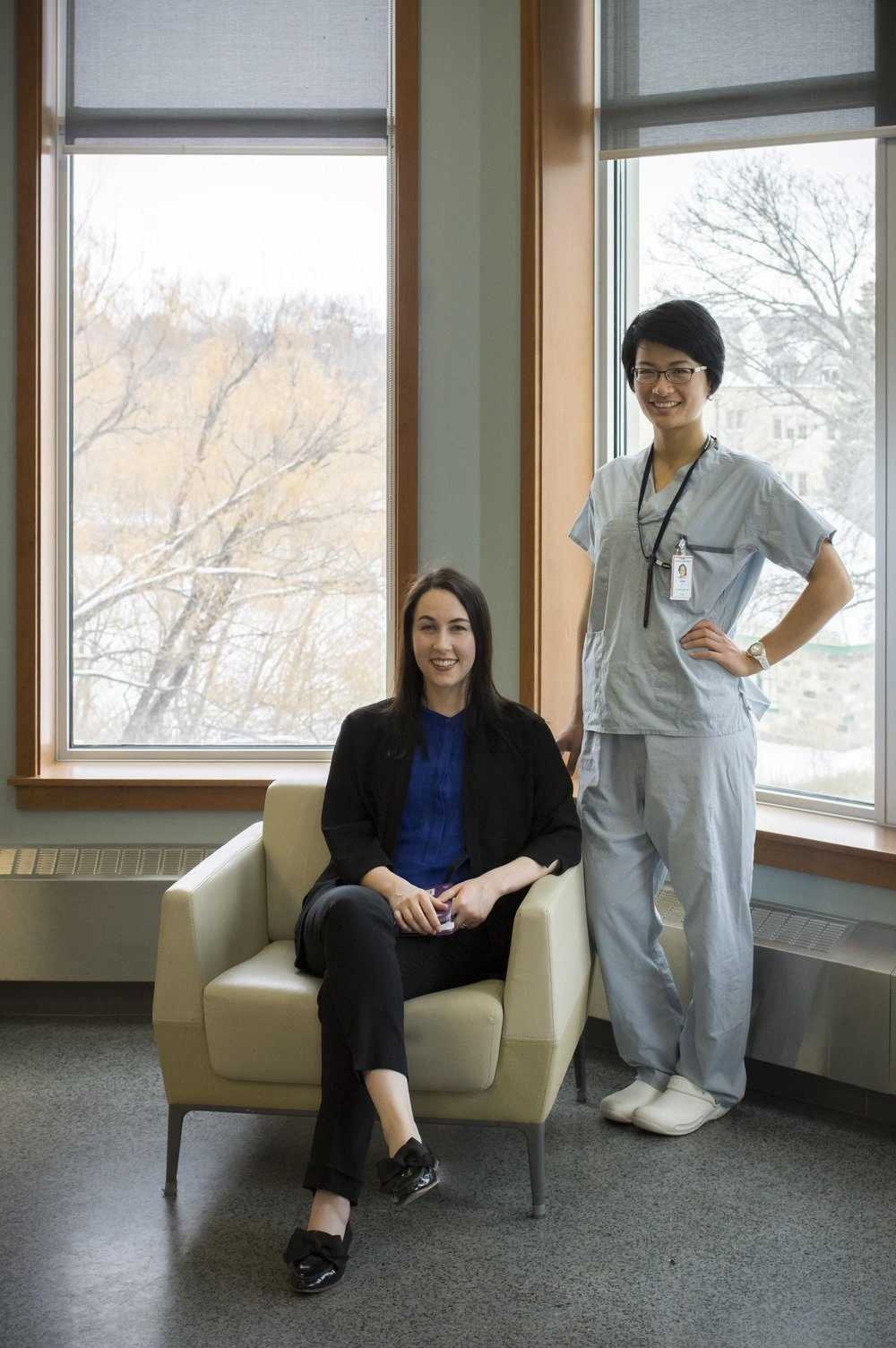 Dean's Project Students, Cheyenne Lawton and Bonnie Liu