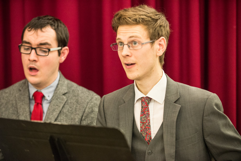 Timothy Coleman, tenor/choir manager (right)