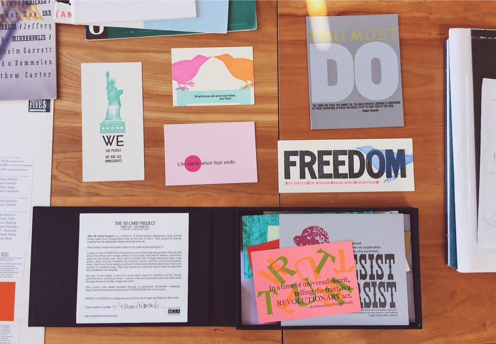The 50 Card Project   by Melanie Mowinski was amazing!