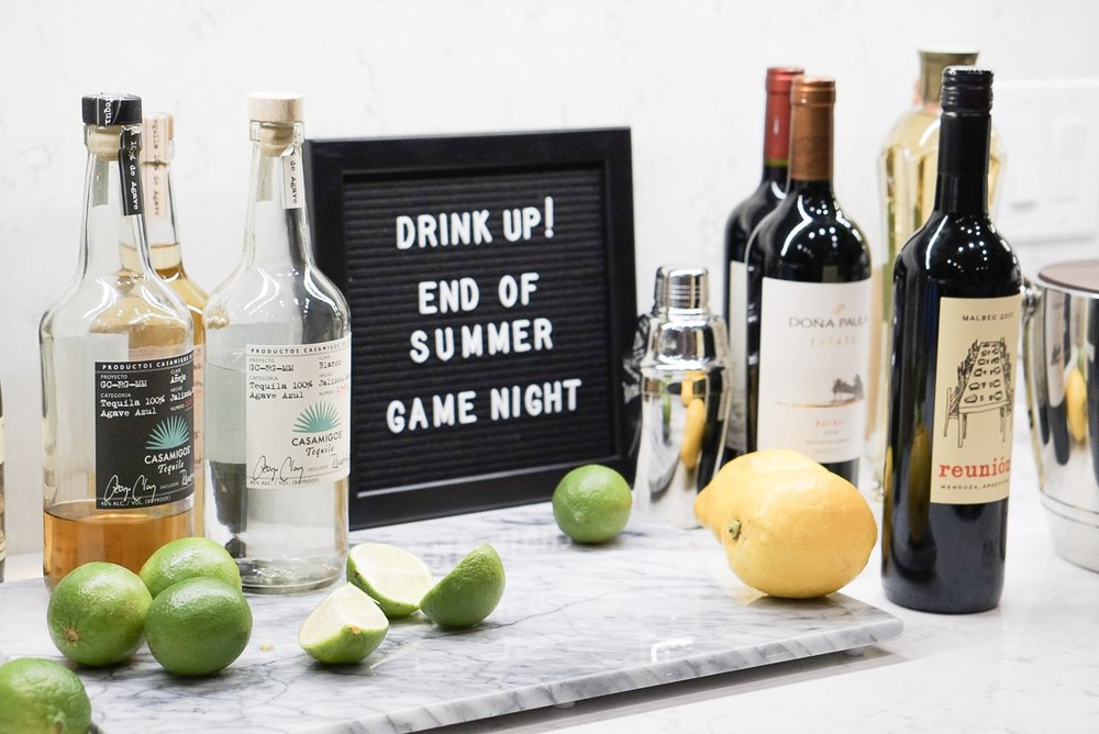 For us, game night wouldn't be complete without the proper libations. If your guests ask what they can bring, don't be shy to suggest their favorite bottle of wine! This way they will be sure to have exactly what they want to drink for the evening.