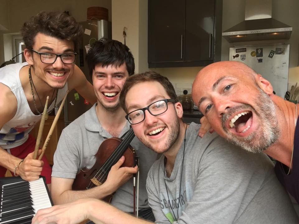 Jordan Clarke, Tris, Petru, Paul, Rehearsing.jpg
