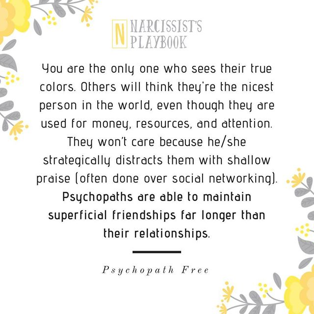 -------------------------------------------------------- EDUCATE | VALIDATE | EMPOWER Coaching, Support Group, Workshops Email:  kjbcoaching@gmail.com Website: www.narcissistsplaybook.com -------------------------------------------------------- #narcissistsplaybook #narcissistawareness #awareness #lifecoach #emotionalabuse #narcissist #psychopath #psychopathfree #narcissisticabuse #cheater #toxicpeople #hoovering #tactics #gaslighting #sentimental #betrayal #liar #bully #hoover #quoteoftheday #psychopath #sociopath #flyingmonkey #supply #redflags #grayrock #supply