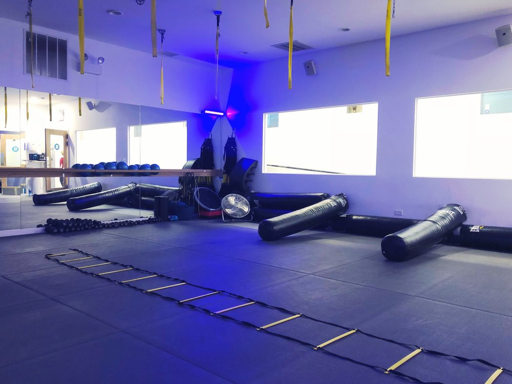 Inside Pilates Proworks studio for bootcamp class.