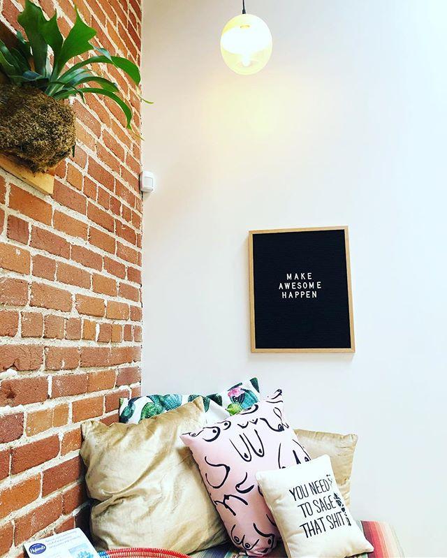 adorable lil corner @onedowndog ✨ #sagethatshit #layoga