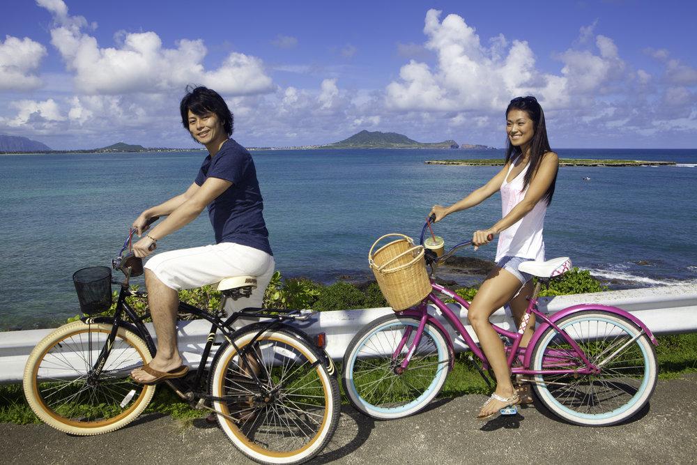 自転車レンタル カイルア散策 カイルア自転車 カイルア自転車レンタル ラニカイピルボックス