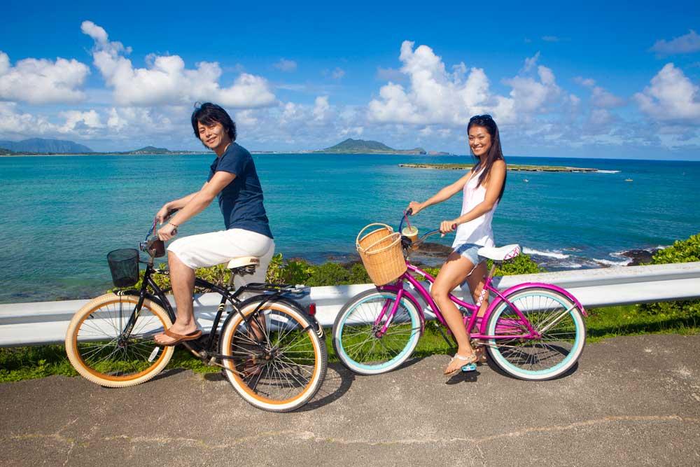 Bicycling Kailua Bay