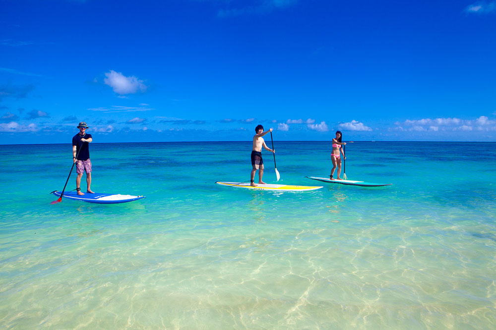 Paddleboarding in paradise on Oahu