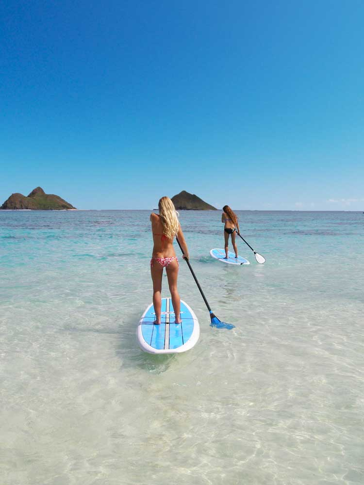 Stand Up Paddleboarding to the Mokulua Islands