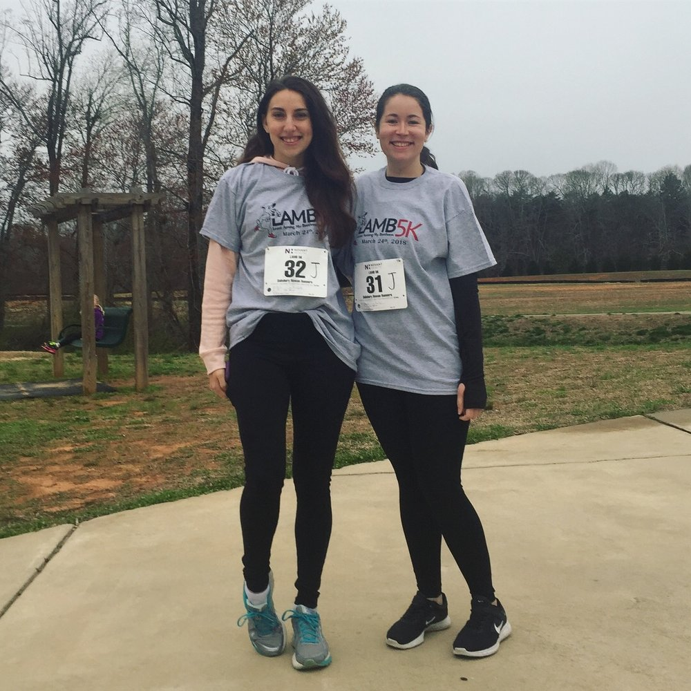Here's a photo of me and my best friend before our first 5k.