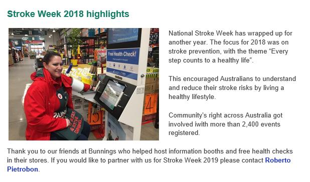 Stroke Week Highlight, 2018