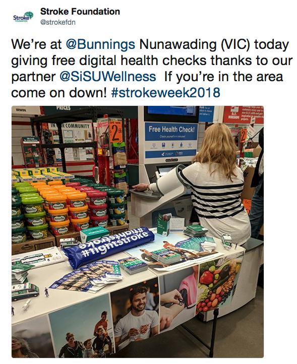 Bunnings Nunawading Installation, Stroke Week 2018