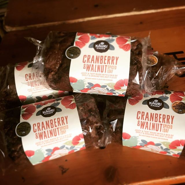 Our favourite baked beauty, gold medal winning Cranberry & Walnut loaf available @farrofresh and the best food stores @kaurikitchennz #outstandingfoodproducersawards #norefinedsugar #norefinedflour #notasecretanymore