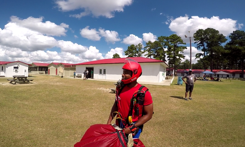 Nick pictured during a Team Blackstar meetup at Skydive Paraclete in North Carolina.  Photo credit: Danielle Williams.