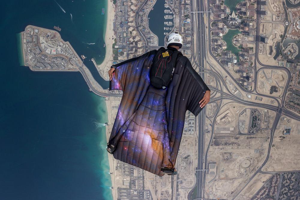 Brandon flies his Freak 2 over the Dubai Marina in the United Arab Emirates (Photo Credit:  Nicholas Scalabrino )