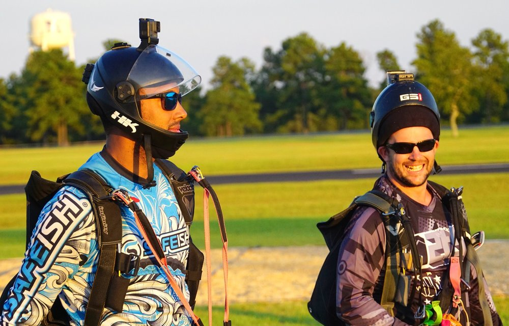 Scott Robinson (l) at a drop-zone in South Carolina ( Photo credit: Elliot Byrd)
