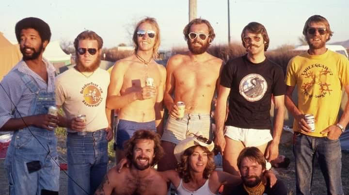 Harrison Wallace (far left) and the Sky Scams, 8 way winners, Coolidge AZ, 1978. (Photo credit: Rob Colpus)