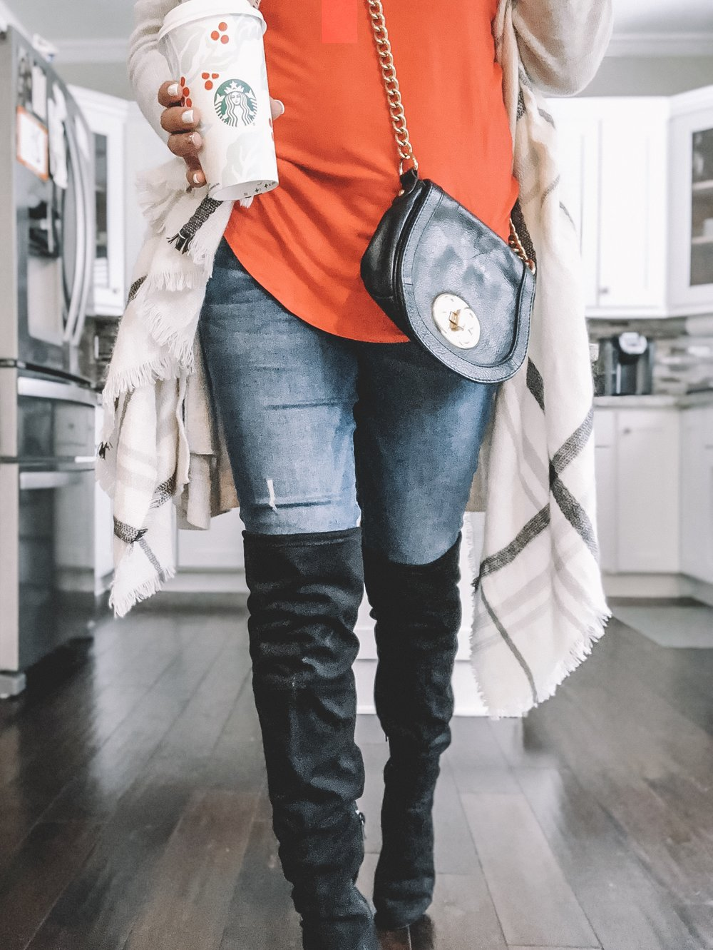 These over the knee boots are a must this season! Pair them with distressed denim or a sweater dress and you're ready for a day out!