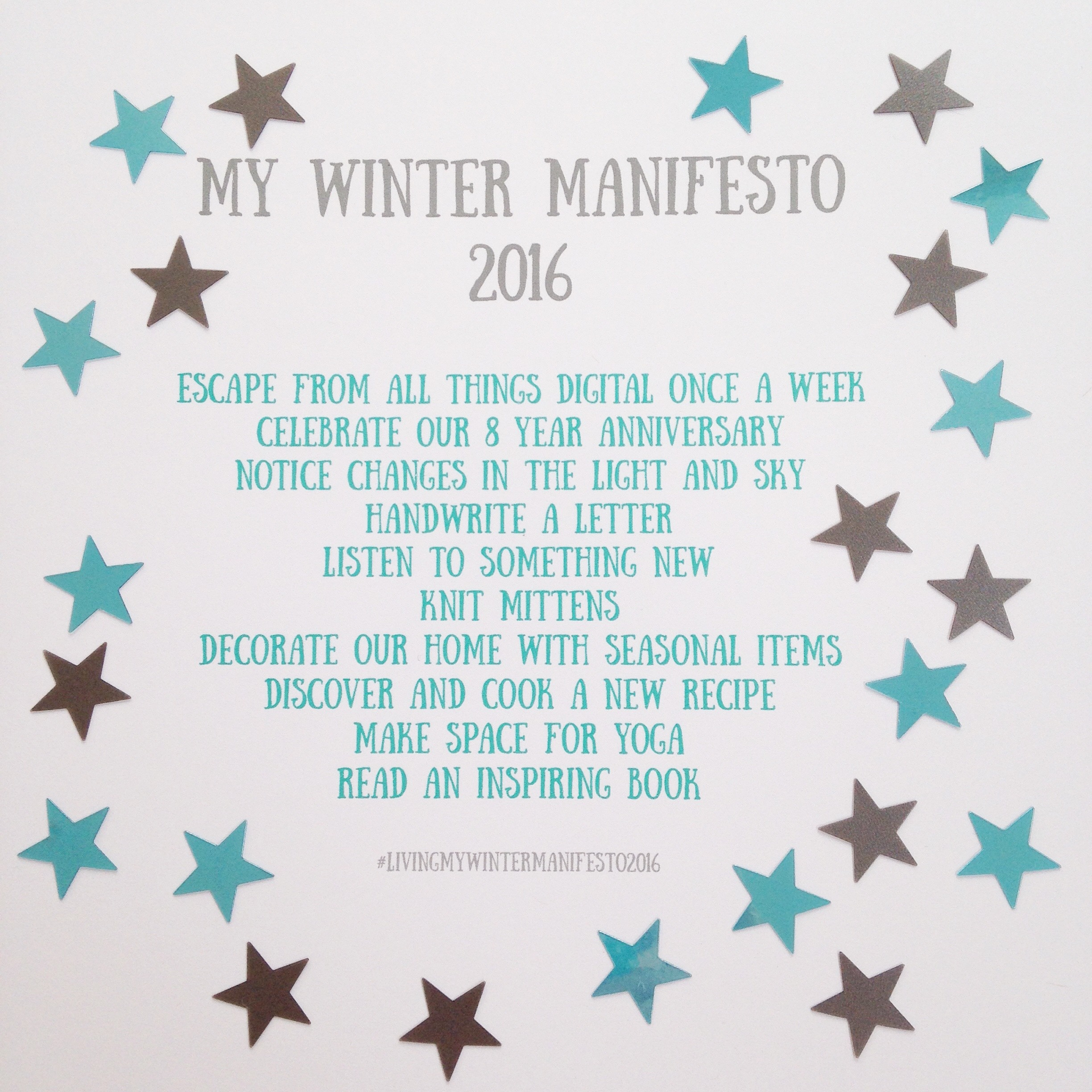 My Winter Manifesto 2016