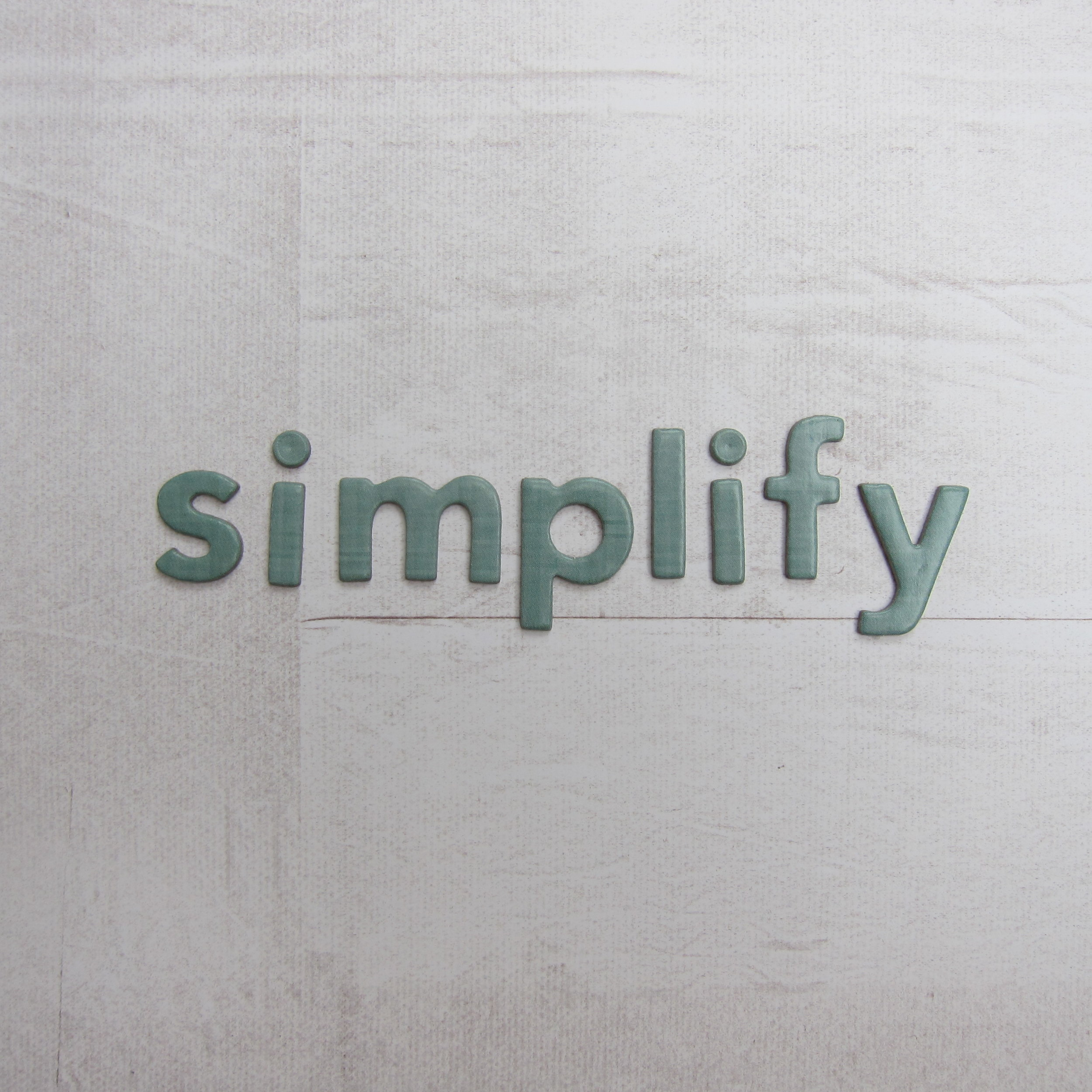 One Little Word - Simplify