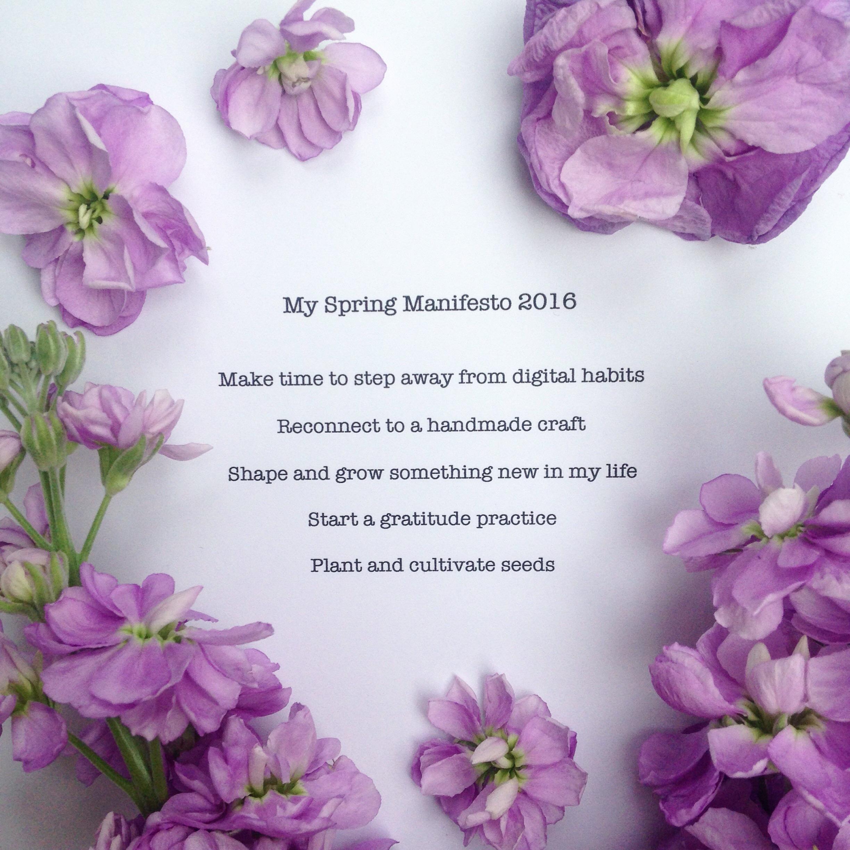 My Spring Manifesto 2016