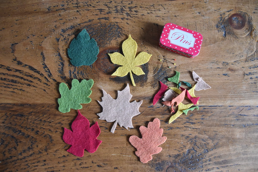 Felt autumn leaf garland