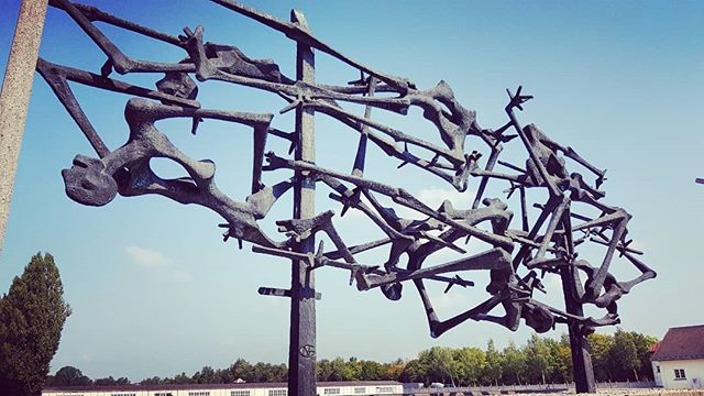 The central memorial at Dachau. . . . . . . #dachau #concentrationcamp #memorial #neveragain #holocaust #art #tour #tours #walking #walkingtour #munich