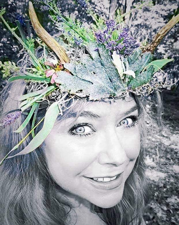 Melisa, rocking her<br>Woodland Crown