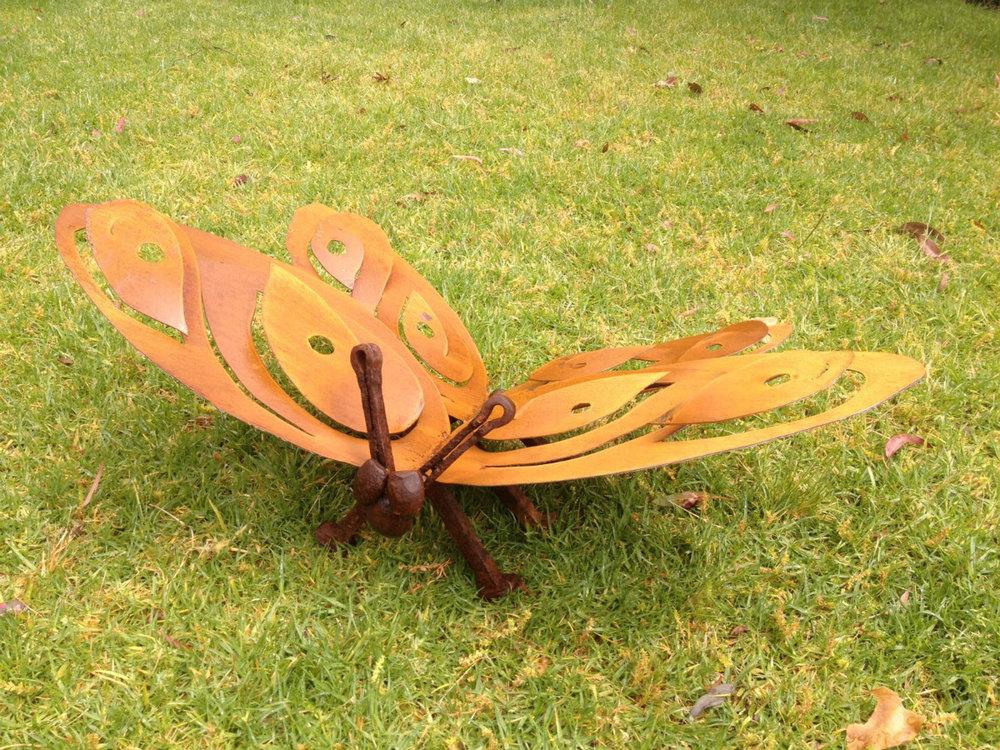 Butterfly metal sculpture, 32cm x 86cm x 46cm.jpg