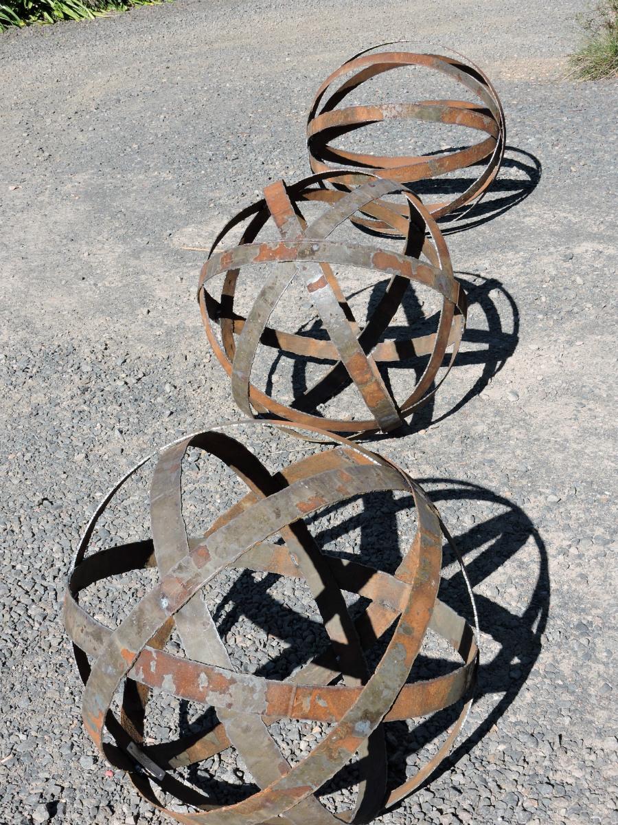 Repurposed Spheres Metal Sculpture 54cm.jpg