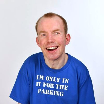 Lee Ridley, AKA Lost Voice Guy (Twitter @LostVoiceGuy)