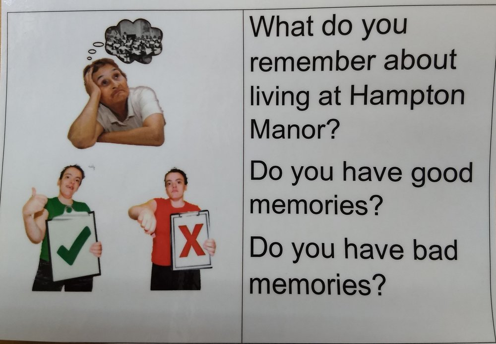 An example of the picture cards that we use in interviews