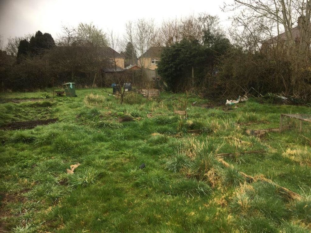 Before the effort of our volunteers and Community Payback