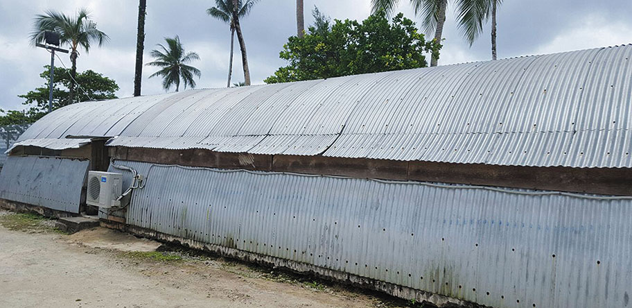 The compound on Manus Island where Hamid lived.