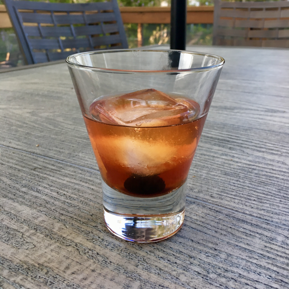 An  Old-Fashioned cocktail , Justin's absolute favorite.