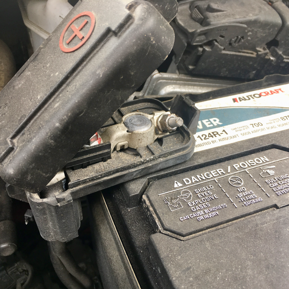 This is how your battery terminals should look.