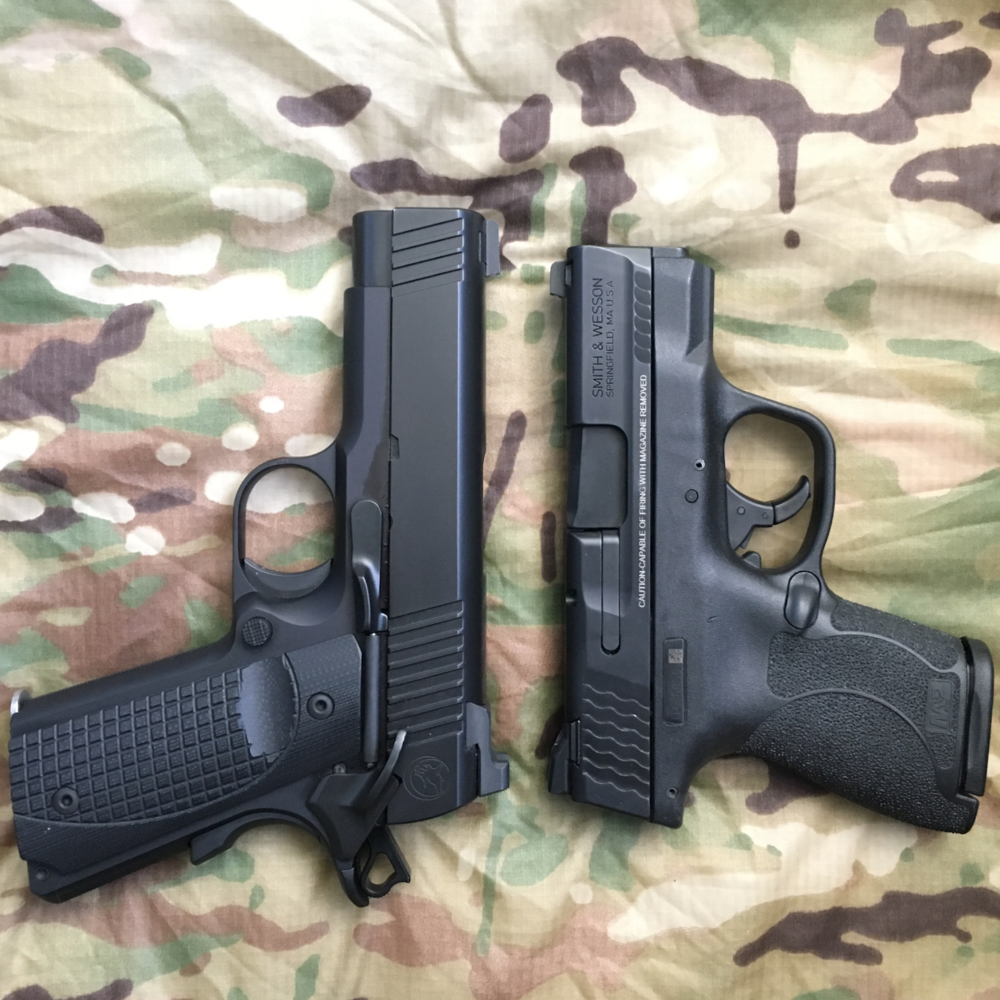Though similar in size and exactly the same in caliber, each of these guns exhibit very different ergonomic factors.