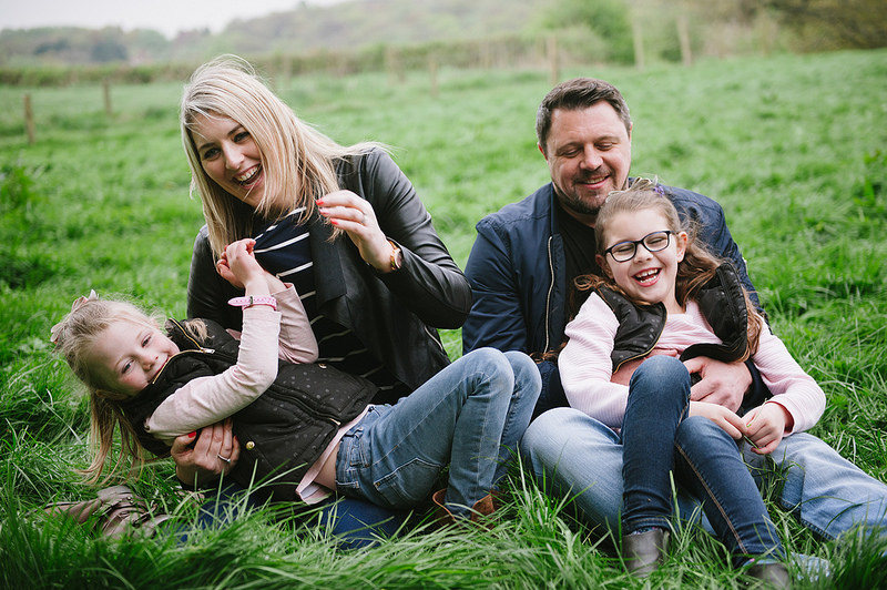 Their Engagement Photos - in the Lickey Hills with the girls.