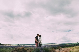 Their Engagement Photos - at the Lavender Farm.