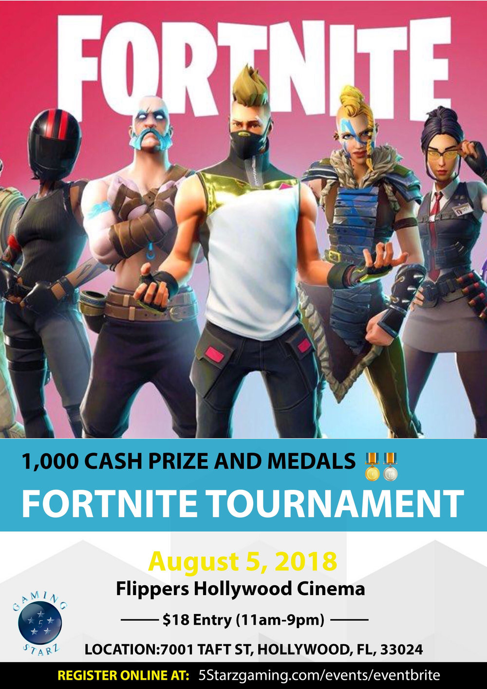 Events — 5 Starz Gaming