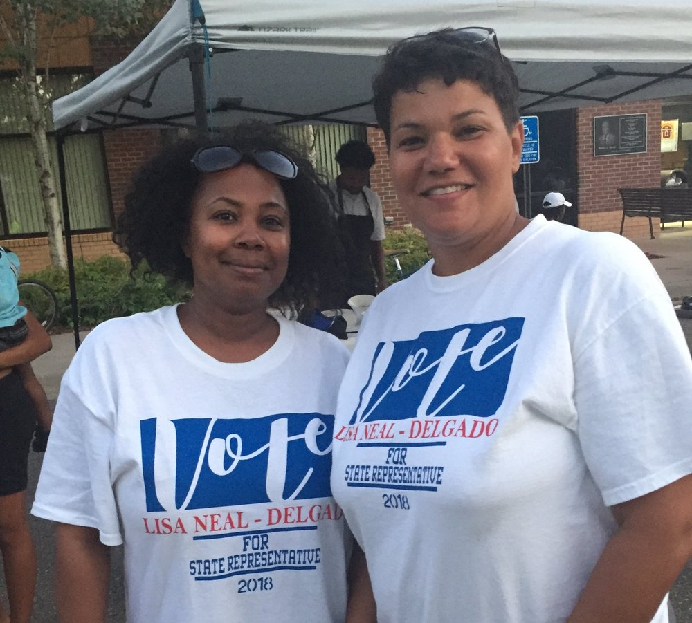 Lisa Neal-Delgado and Undrea Patterson, Campaign Manager after a Slow Roll event 2018