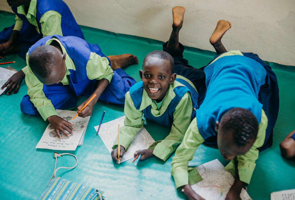 School supplies and uniforms - Between 50 kids, there is never a shortage of holes in pant knees, rips in shirts, worn out from football playing, tree climbing, general fun that comes with being a kid kind of wear and tear in our children's uniforms! Want to give to a child a school uniform?
