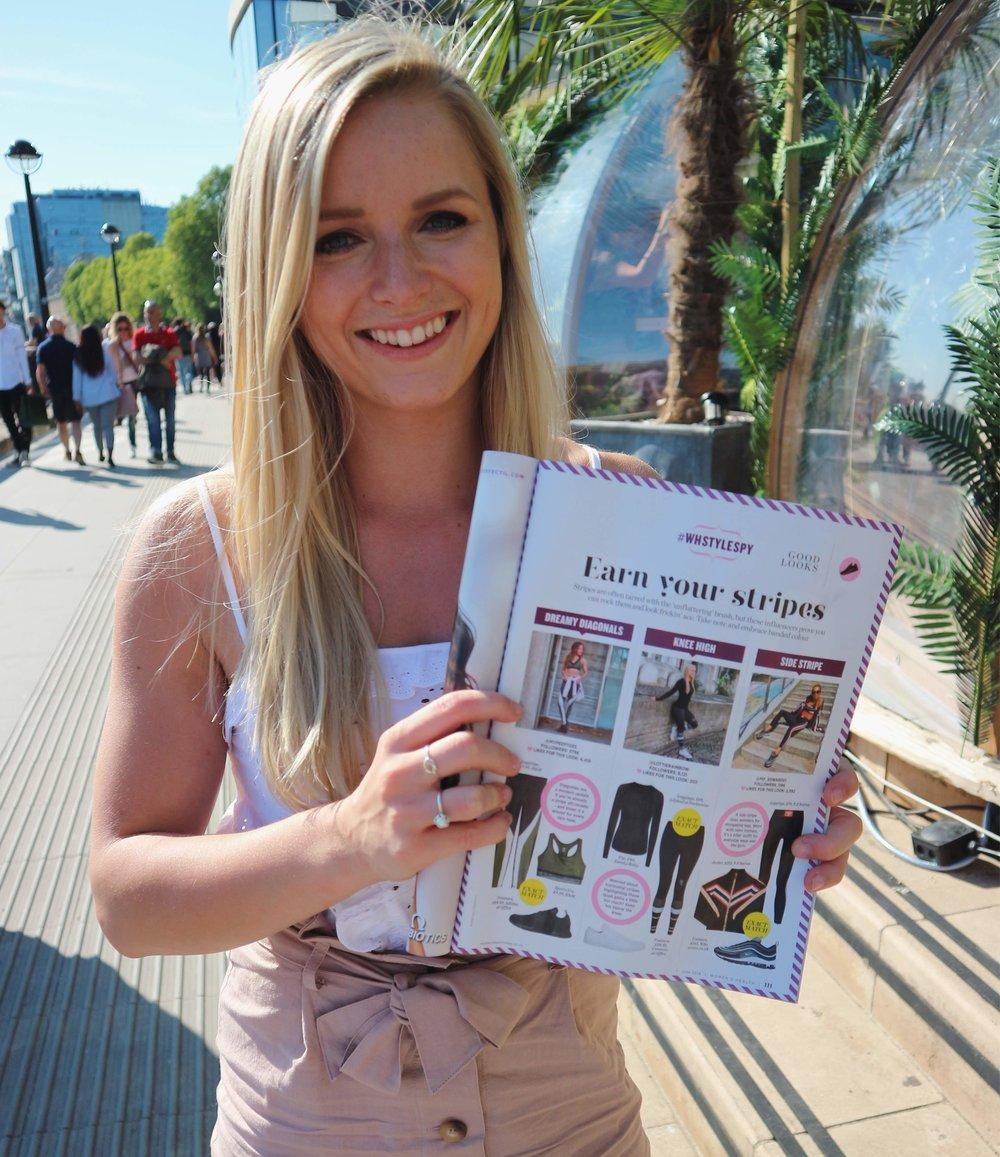 Featured in Women's Health Magazine (centre)!
